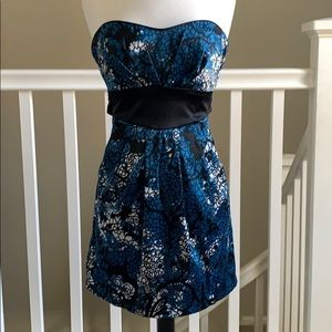 Windsor party dress, black and blue size 3